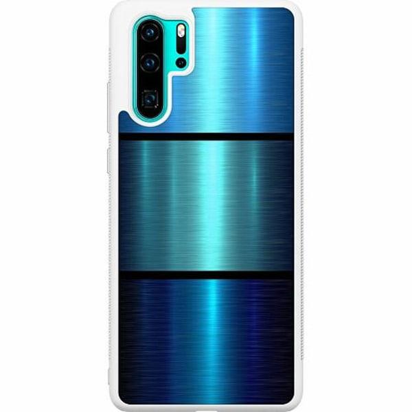 Huawei P30 Pro Soft Case (Vit) Blå
