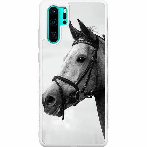 Huawei P30 Pro Soft Case (Vit) Häst