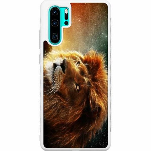Huawei P30 Pro Soft Case (Vit) Lejon