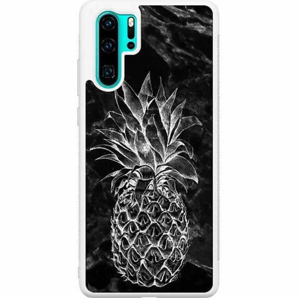 Huawei P30 Pro Soft Case (Vit) Marmor Ananas