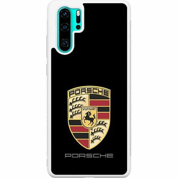 Huawei P30 Pro Soft Case (Vit) Porsche