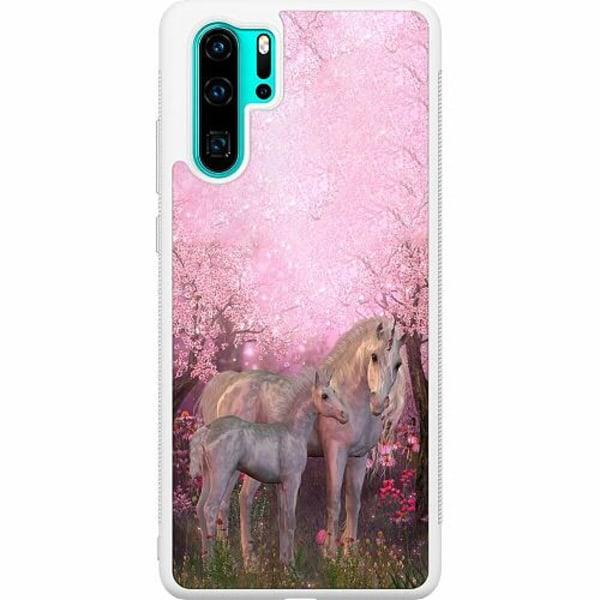 Huawei P30 Pro Soft Case (Vit) Unicorn