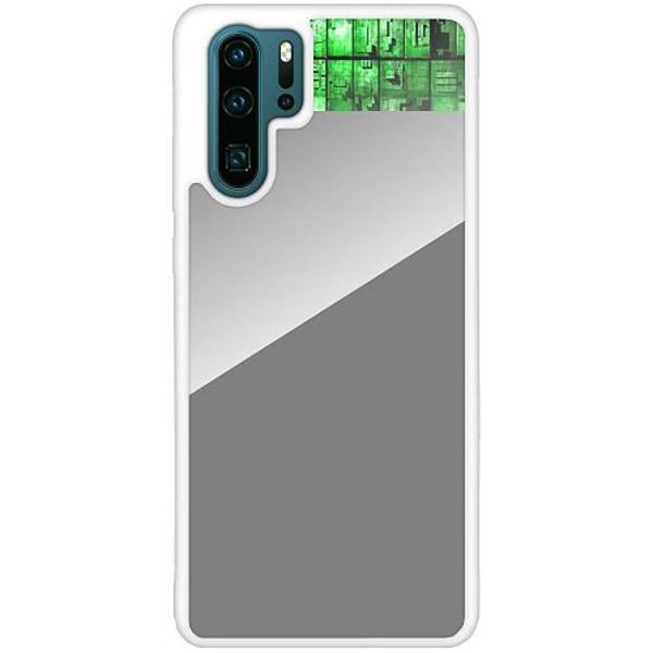 Huawei P30 Pro Vitt Mobilskal med Glas Mönster