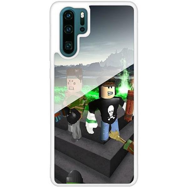 Huawei P30 Pro Vitt Mobilskal med Glas Roblox