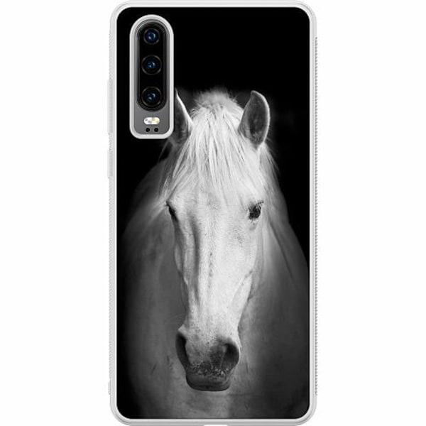 Huawei P30 Soft Case (Frostad) Häst