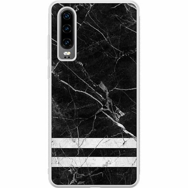 Huawei P30 Soft Case (Frostad) Marmor