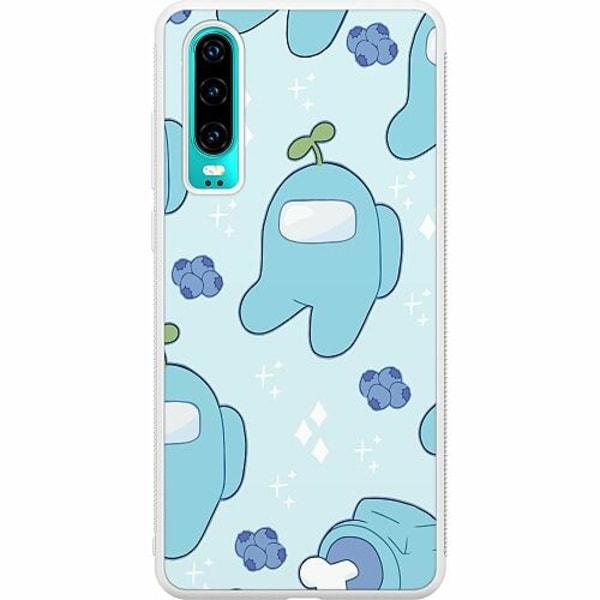Huawei P30 Soft Case (Vit) Among Us