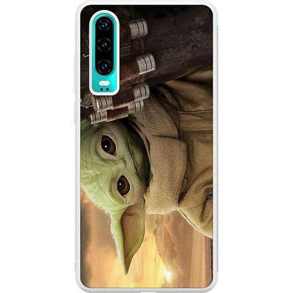 Huawei P30 Soft Case (Vit) Baby Yoda