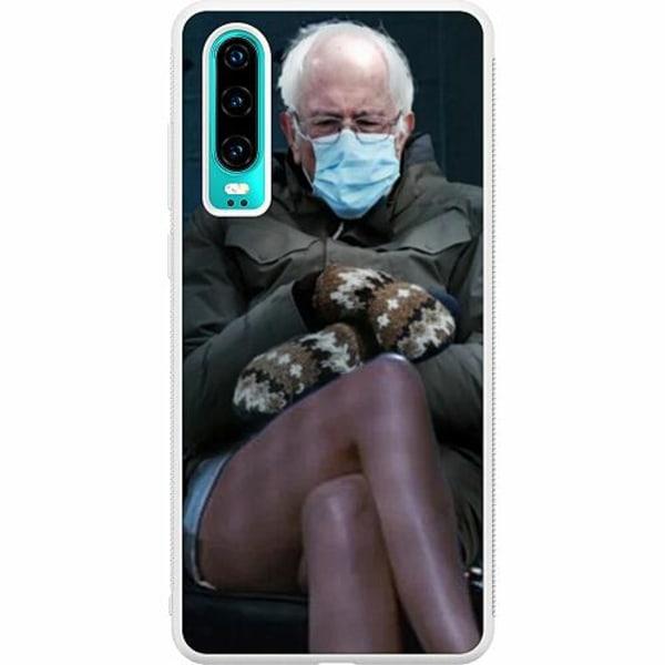 Huawei P30 Soft Case (Vit) Bernie Sanders Meme