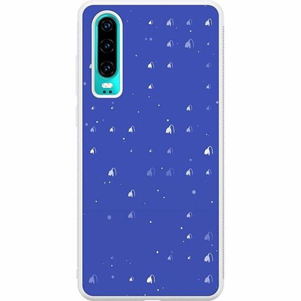 Huawei P30 Soft Case (Vit) Bubbles Invaders