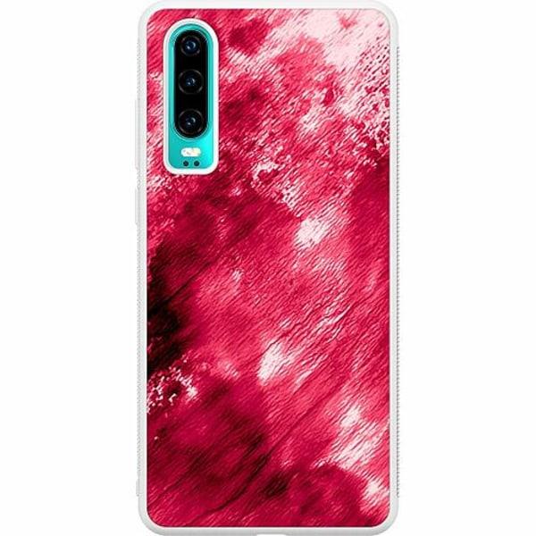 Huawei P30 Soft Case (Vit) Fake Blood