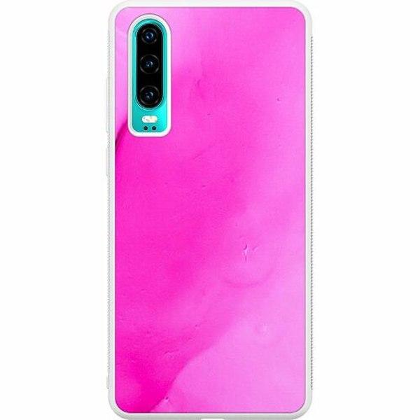 Huawei P30 Soft Case (Vit) Pinksknip