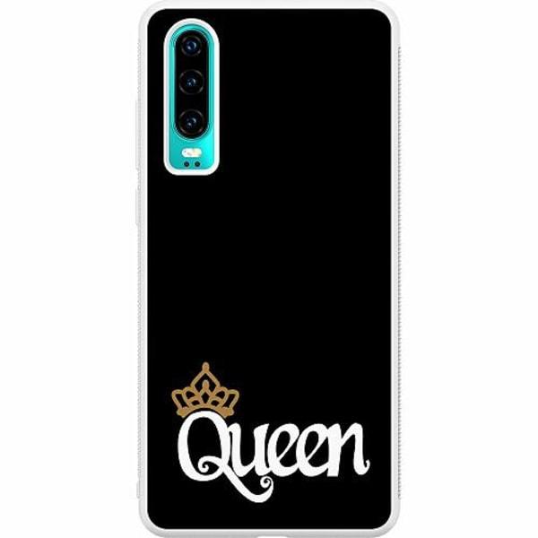 Huawei P30 Soft Case (Vit) Queen 01