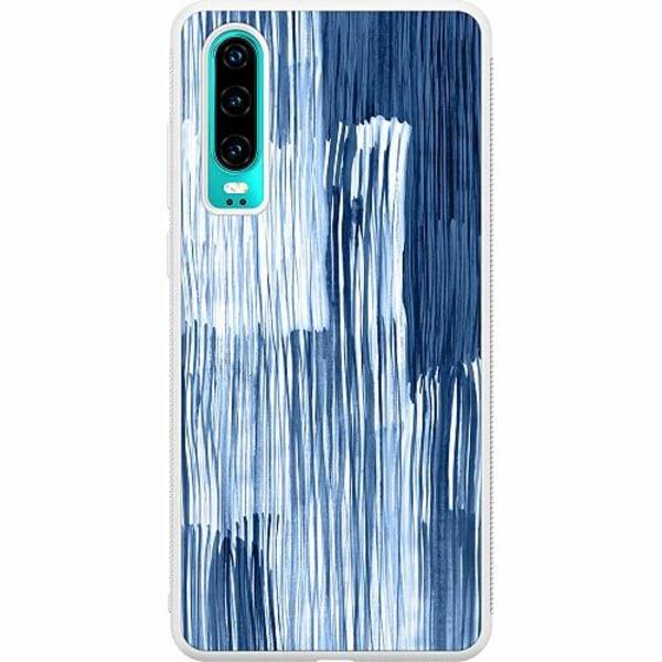 Huawei P30 Soft Case (Vit) Rain On Windowsill