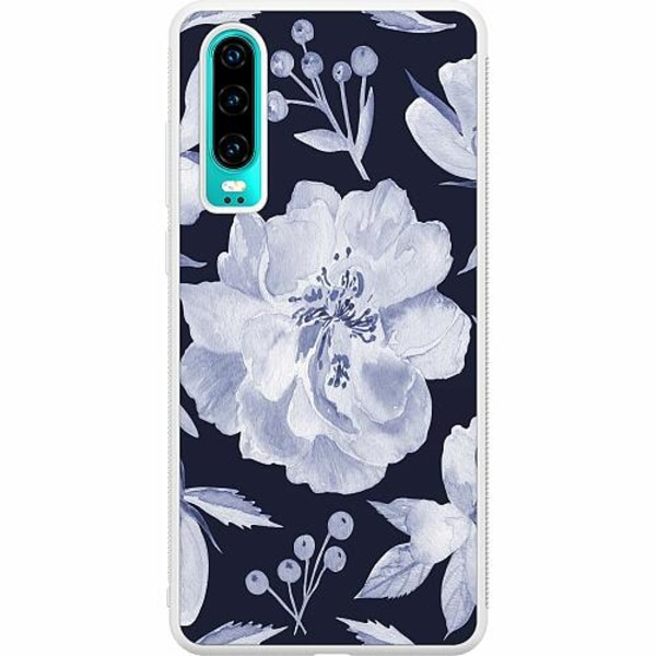 Huawei P30 Soft Case (Vit) Rythm and Blue Hues