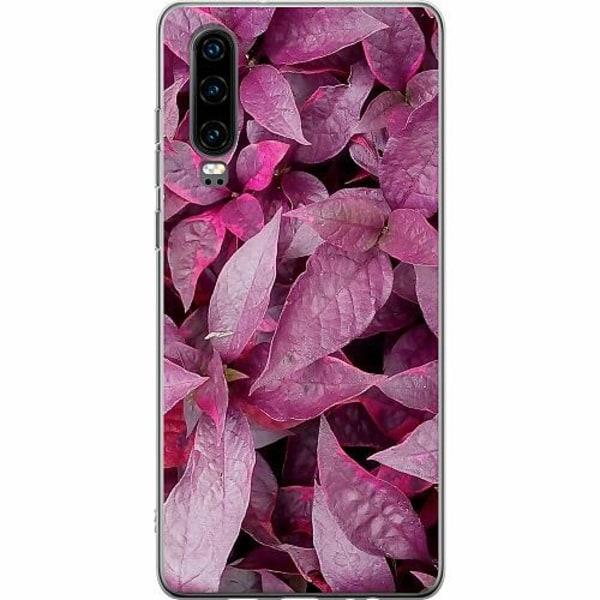 Huawei P30 TPU Mobilskal Pink Shrubs