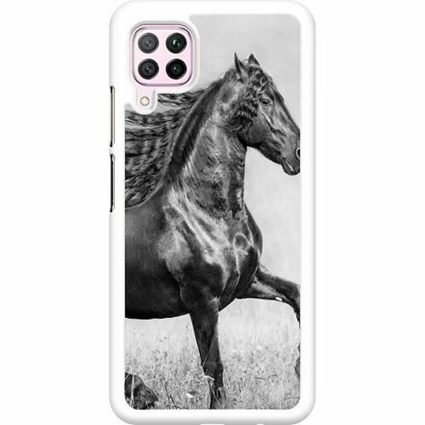 Huawei P40 Lite Hard Case (Vit) Häst / Horse