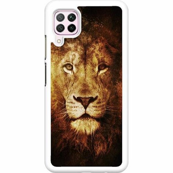 Huawei P40 Lite Hard Case (Vit) Lion