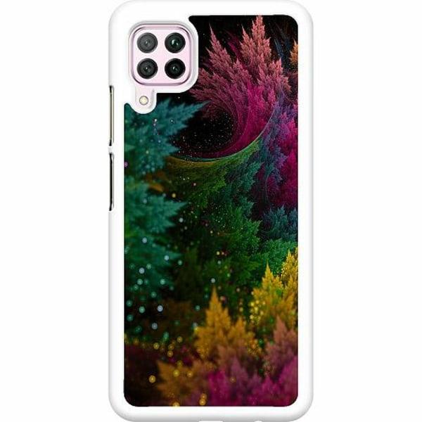 Huawei P40 Lite Hard Case (Vit) Pixel Forest