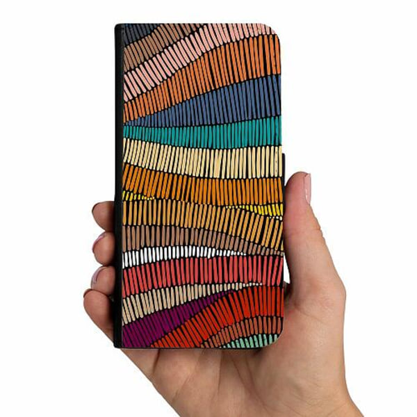 Samsung Galaxy A20s Mobilskalsväska Stitched Waves