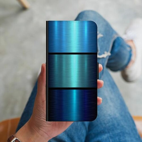 Huawei P40 Lite Plånboksskal Blå