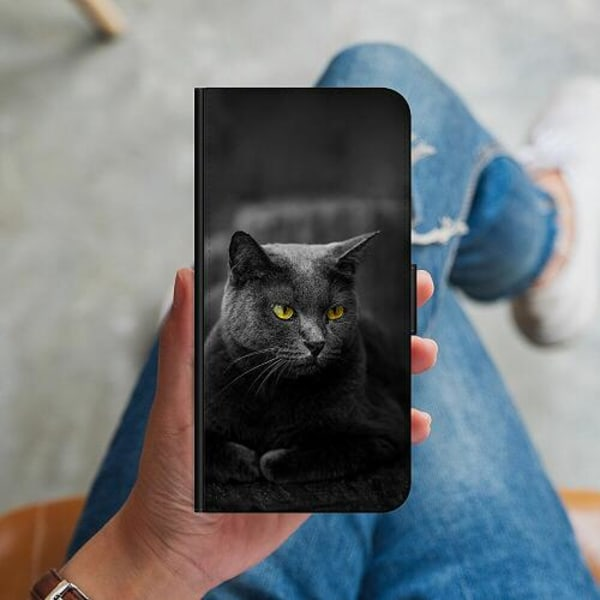 Samsung Galaxy A41 Plånboksskal Black Cat