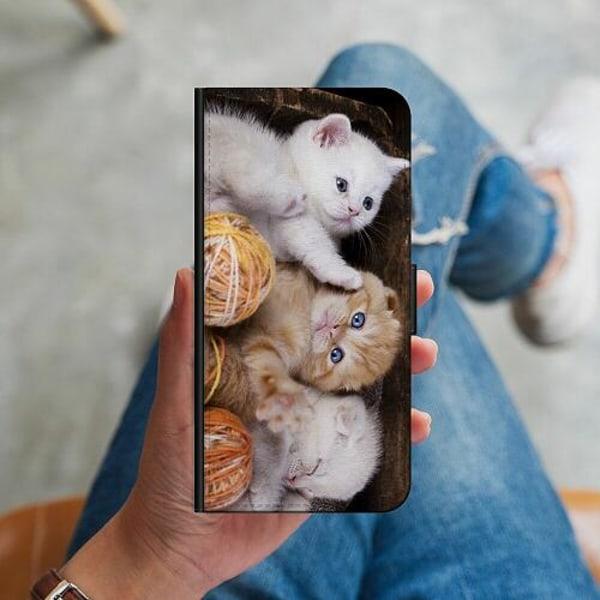 Huawei P40 Lite Plånboksskal Kittens and Yarn