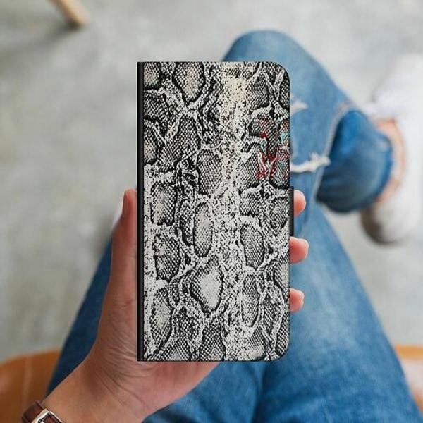 Huawei P40 Lite Plånboksskal Snake on Grey