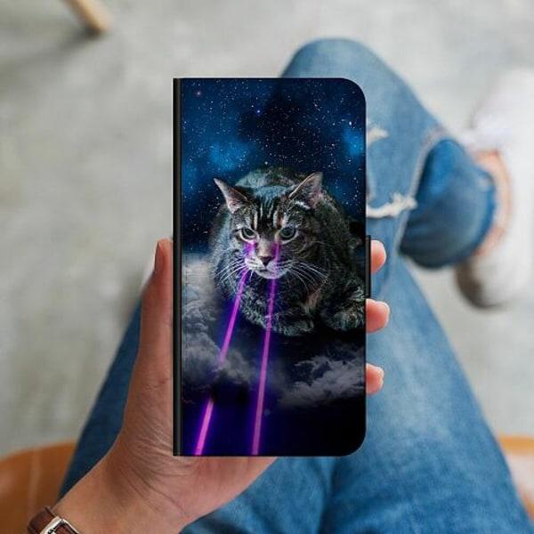 Apple iPhone 12 Plånboksskal Space Cat