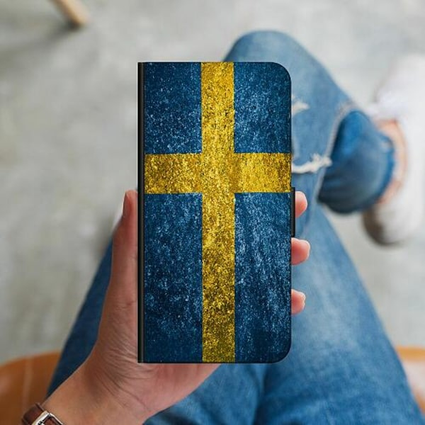 Huawei P40 Lite Plånboksskal Sweden