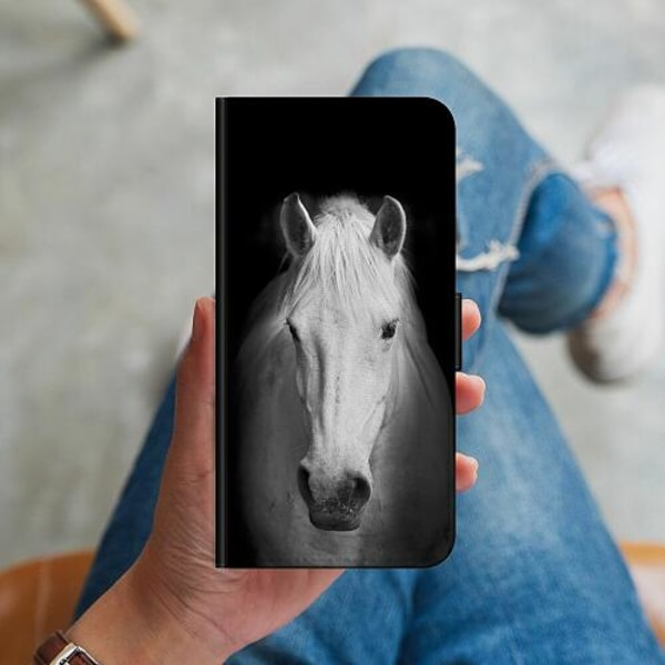 Huawei P40 Lite Plånboksskal Vit Häst