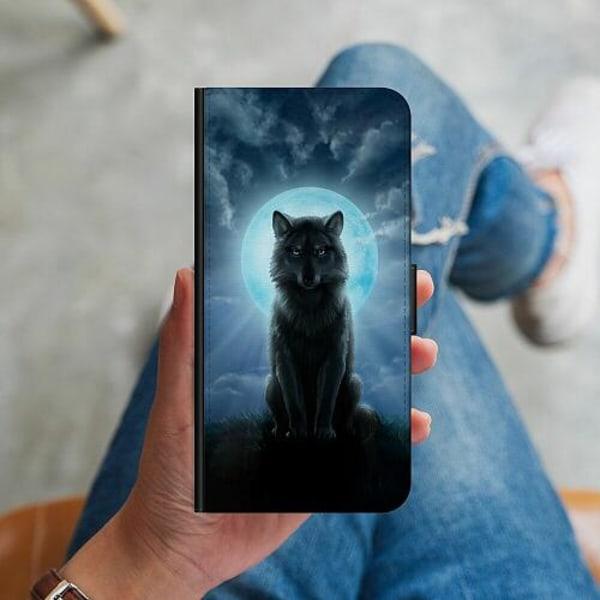 Huawei P40 Lite Plånboksskal Wolf in the Dark