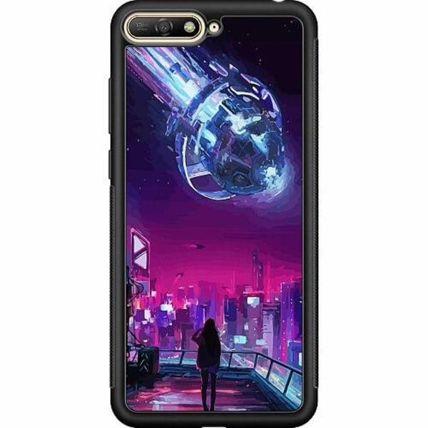 Huawei Y6 (2018) Soft Case (Svart) Cyberpunk 2077