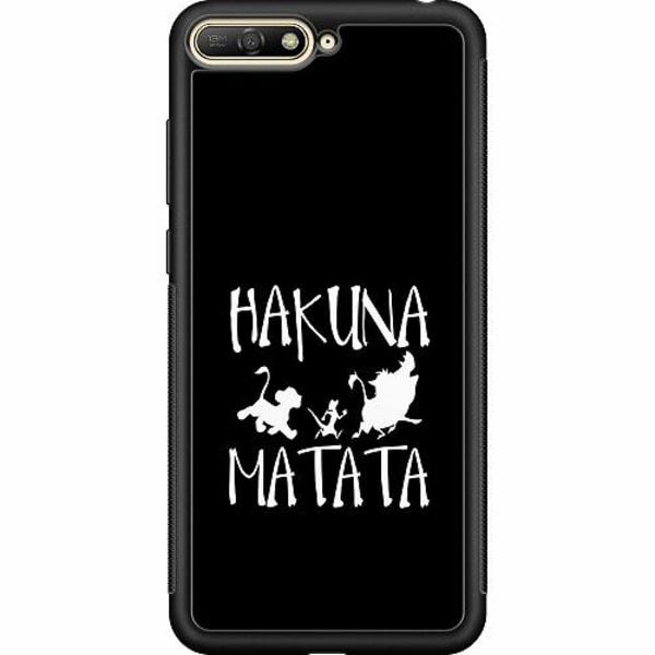 Huawei Y6 (2018) Soft Case (Svart) Hakuna Matata