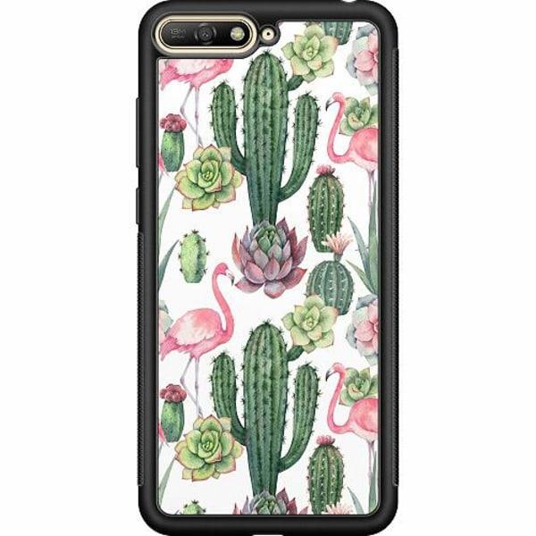 Huawei Y6 (2018) Soft Case (Svart) Kaktus