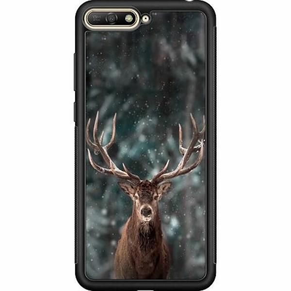 Huawei Y6 (2018) Soft Case (Svart) Oh Deer