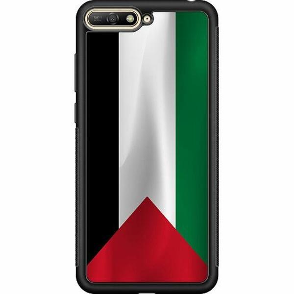 Huawei Y6 (2018) Soft Case (Svart) Palestina Flagga