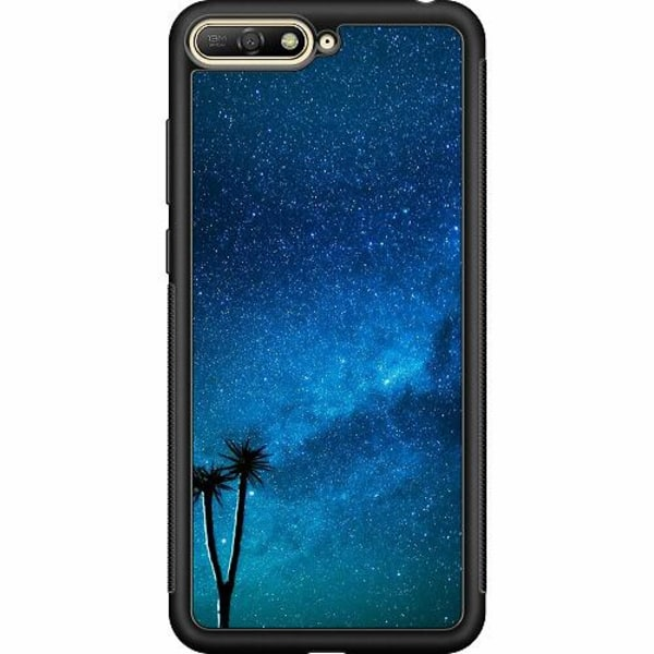 Huawei Y6 (2018) Soft Case (Svart) Pattern