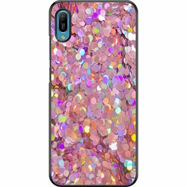 Huawei Y6 (2019) Hard Case (Svart) Glitter