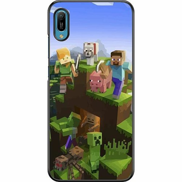 Huawei Y6 (2019) Hard Case (Svart) MineCraft