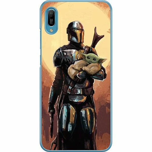 Huawei Y6 (2019) Hard Case (Transparent) Baby Yoda