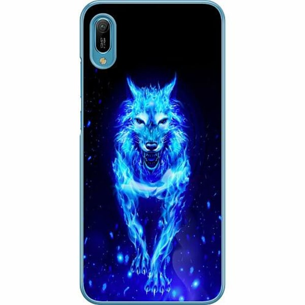 Huawei Y6 (2019) Hard Case (Transparent) Fire Wolf