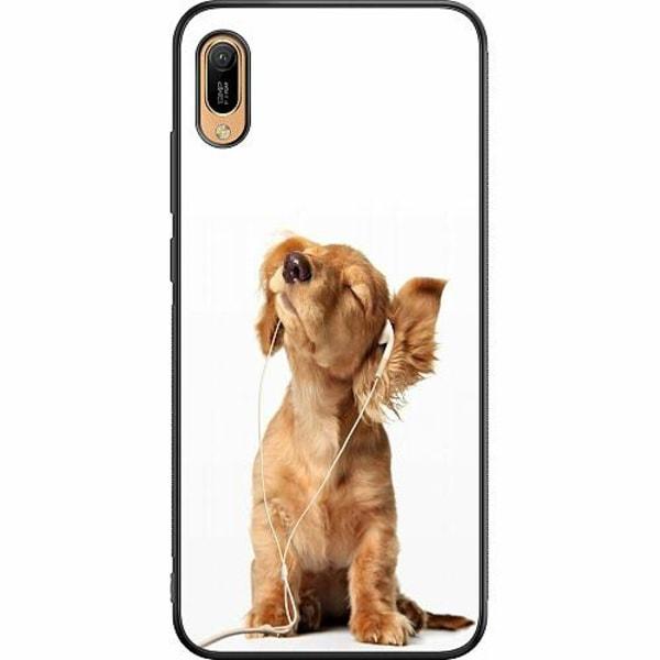 Huawei Y6 (2019) Soft Case (Svart) Hund