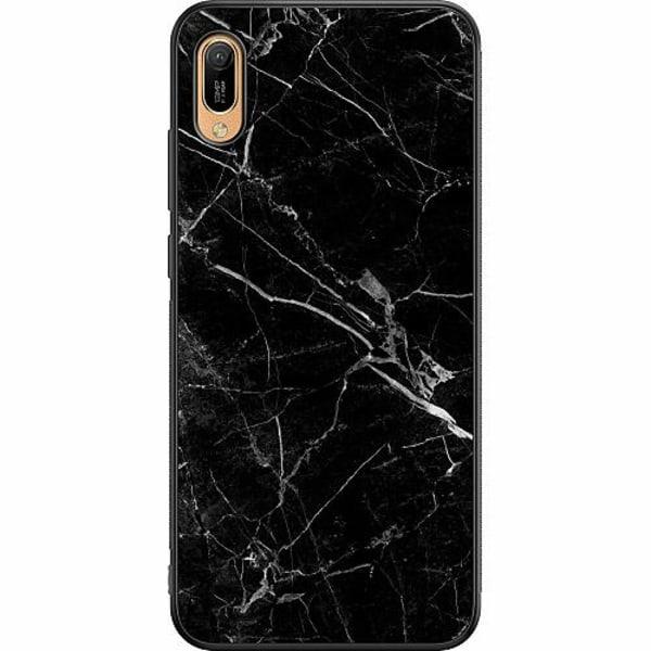 Huawei Y6 (2019) Soft Case (Svart) Marmor