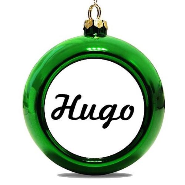 Julgranskula Grön Hugo