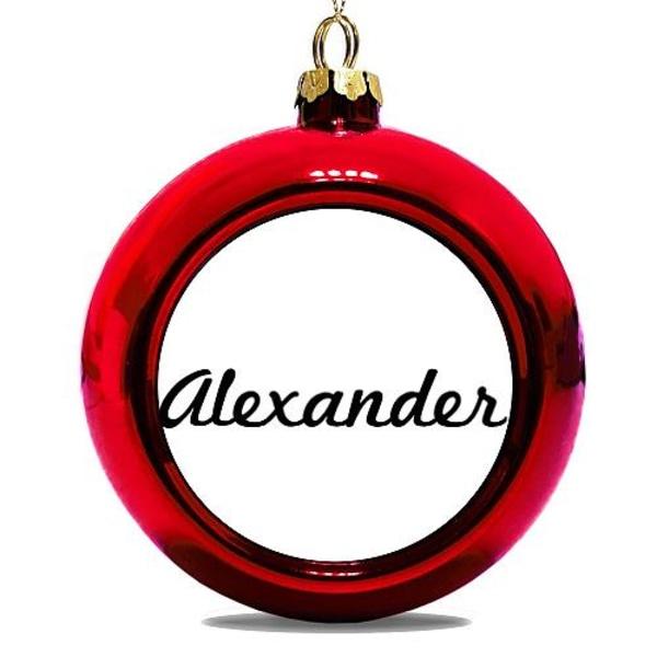 Julgranskula Röd Alexander