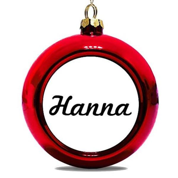 Julgranskula Röd Hanna