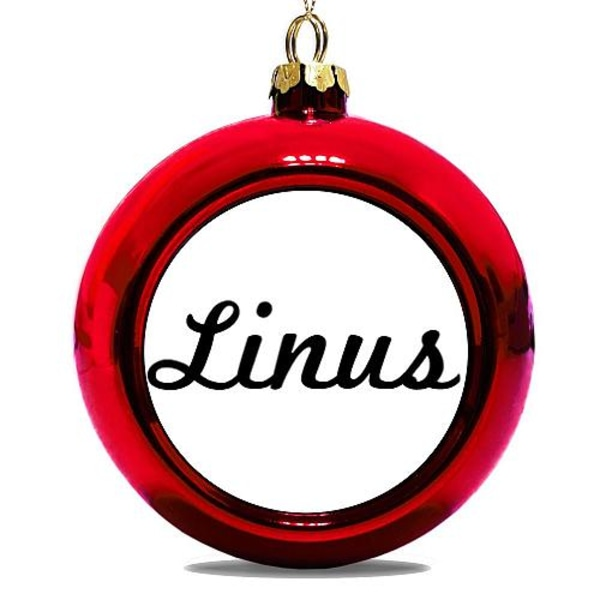 Julgranskula Röd Linus