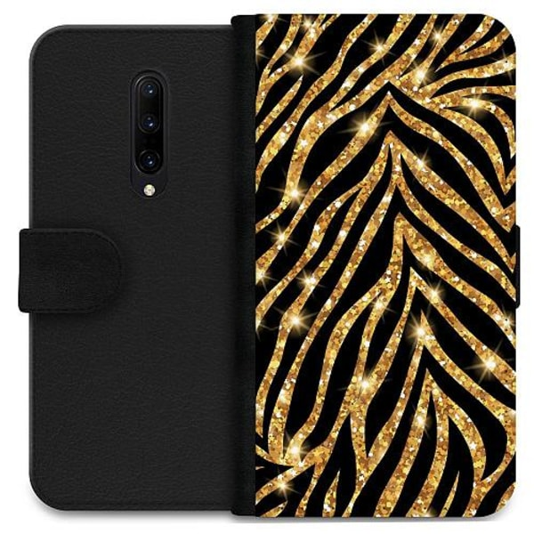OnePlus 7 Pro Wallet Case Gold & Glitter