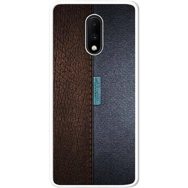 OnePlus 7 Vitt Mobilskal Leather Blue